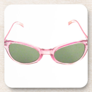 Gafas de sol rosadas retras posavaso