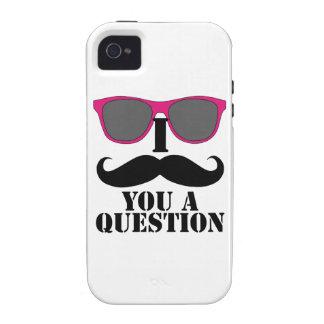 Gafas de sol rosadas y bigote de I usted una pregu Case-Mate iPhone 4 Fundas