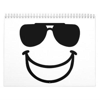 Gafas de sol sonrientes divertidas calendarios