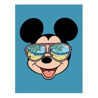 Gafas de sol tropicales de Mickey el | Mickey Tarjetas Postales
