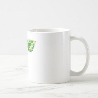 Gafas de sol verdes de los tréboles taza