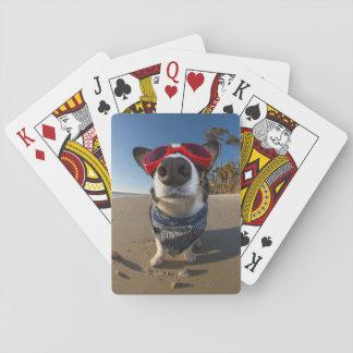 Gafas del amor cartas de póquer