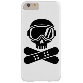 Gafas del cráneo de la snowboard funda de iPhone 6 plus barely there