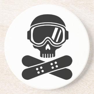 Gafas del cráneo de la snowboard posavasos cerveza