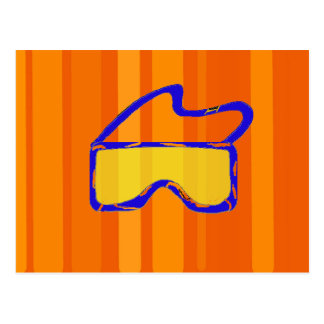 Gafas del esquí tarjeta postal