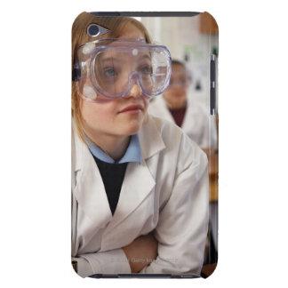 Gafas protectoras que llevan del chica (9-12) aden Case-Mate iPod touch coberturas
