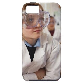 Gafas protectoras que llevan del chica (9-12) funda para iPhone SE/5/5s