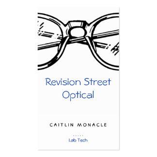 Gafas Vision óptico de la revisión de las gafas Tarjeta Personal