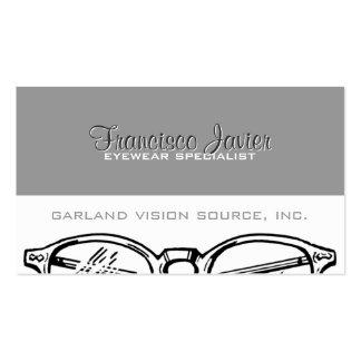 Gafas Vision óptico de las gafas con recordatorio Tarjetas De Visita