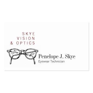 Gafas Vision óptico de las gafas de Skye Plantillas De Tarjetas De Visita
