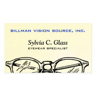 Gafas Vision óptico de las gafas Plantillas De Tarjetas Personales