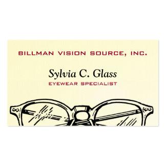 Gafas Vision óptico de las gafas Tarjeta De Negocio