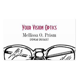 Gafas Vision óptico de las gafas Plantillas De Tarjeta De Negocio