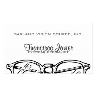 Gafas Vision óptico de las gafas Tarjetas De Visita