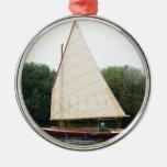 Gaff aparejó el barco de navegación adornos de navidad