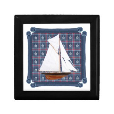 Beach Themed Gaff Rigged Cutter Gift Box