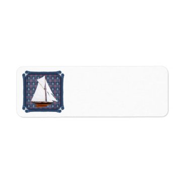 Beach Themed Gaff Rigged Cutter Label