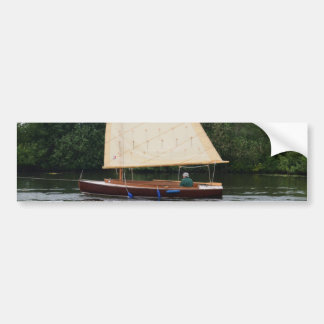 Gaff Rigged Sailing Boat Bumper Stickers