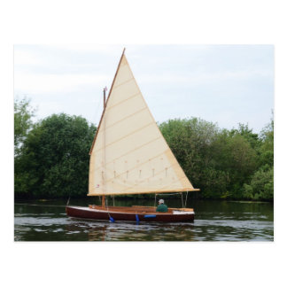 Gaff Rigged Sailing Boat Postcard