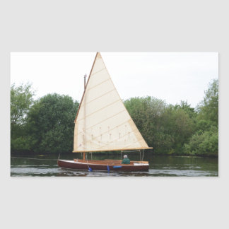 Gaff Rigged Sailing Boat Rectangular Sticker