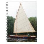 Gaff Rigged Sailing Boat Spiral Notebooks