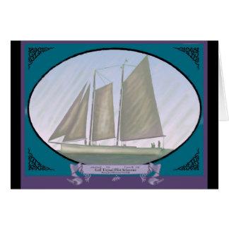 Gaff Topsail Pilot Schooner Gallery Notecard