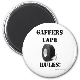 Gaffers Tape Rules 2 Inch Round Magnet