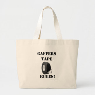Gaffers Tape Rules Large Tote Bag