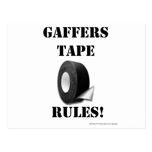 Gaffers Tape Rules Post Cards
