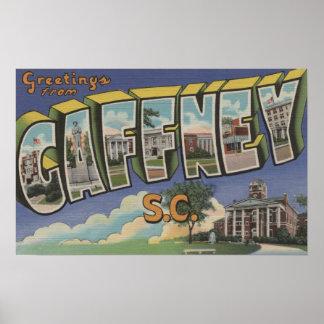 Gaffney Carolina del Sur - escenas grandes de la Poster
