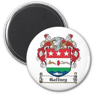 Gaffney Family Crest 2 Inch Round Magnet