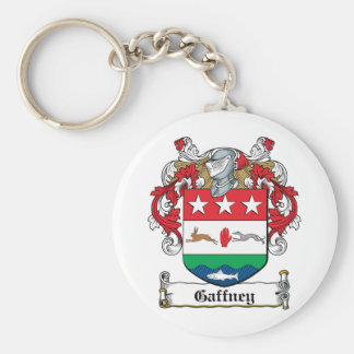 Gaffney Family Crest Basic Round Button Keychain