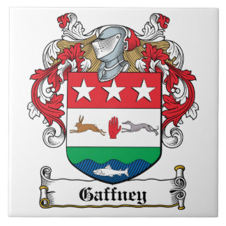 Gaffney Family Crest Large Square Tile