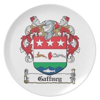 Gaffney Family Crest Plate