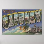 Gaffney, South Carolina - Large Letter Scenes Posters