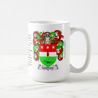 Gaffney, the Origin, the Meaning and the Crest Coffee Mug