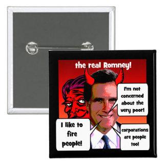 Gaffs de Mitt Romney Pin Cuadrado