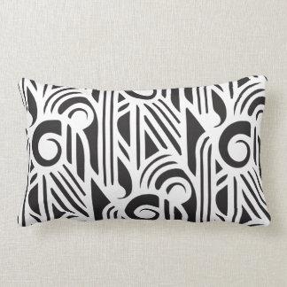 GaG Art Deco Lumbar Pillow - Black on White