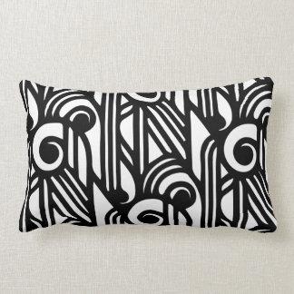 GaG Art Deco Lumbar Pillow - White on Black