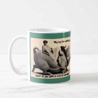 Gag Gift Coffee Mug Coworker Lady & Old Pig humor