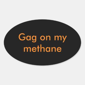 """Gag on my methane"" snowboard/ski/skateboard Oval Sticker"