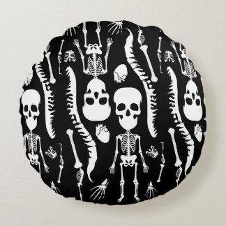 GaG Skull Head Throw Pillow - Round