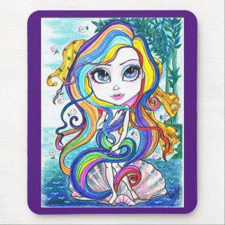 Gaga Nymph on The Half Shell Fantasy Art Mousepad