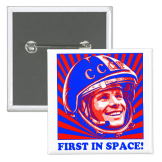 Gagarin ЮрийГагарин Pin Cuadrada 5 Cm