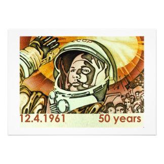 Gagarin 2 personalized invitation