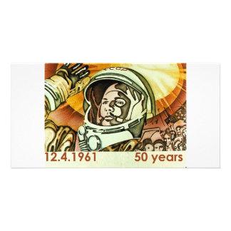 Gagarin 2 custom photo card