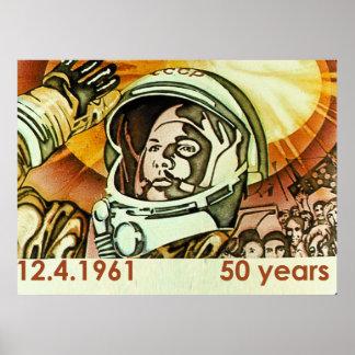 Gagarin large poster