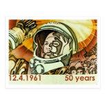 Gagarin Post Card
