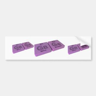 Gage as Ga Galllium and Ge Germanium Bumper Stickers
