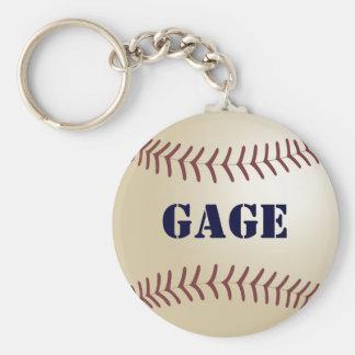 Gage Baseball Keychain by 369MyName